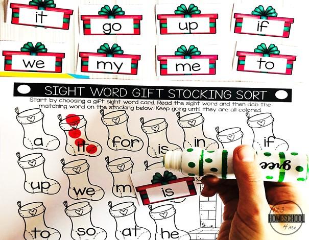 Christmas Sight Word Match