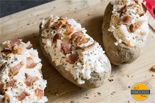 carefully spoon the mashed potato mixture back into your potato boats