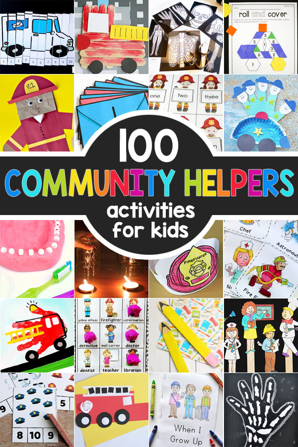Community Helpers Theme With Crafts, Activities, Free Printables, & Books