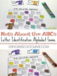 fall worksheets alphabet