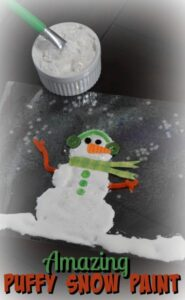 Amazing Puffy Snow Paint