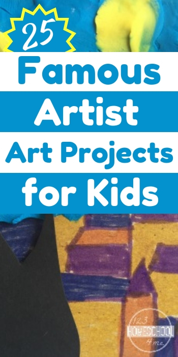 If you're ready to get your little artists on the path to creating unique pieces, here are some famous artists art projects for kids to get started with. So many fun art projected inspired by famous artists for for kindergarten, first grade, 2nd grade, 3rd grade, 4th grade, 5th grade, and 6th grade students.