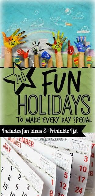 Fun Holidays Activities & Printable