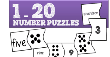 FREE Number Puzzles for Preschool and Kindergarten