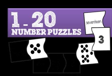 FREE Number Puzzles for Preschool and Kindergarten