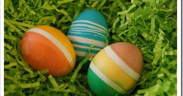Dying Easter Eggs with Rubber-bands?!?!?