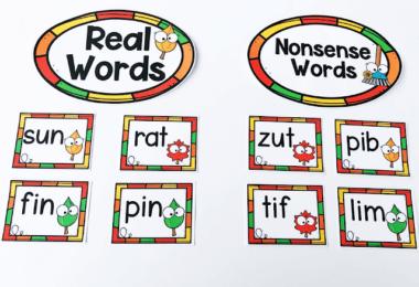 Fall Nonsense Words Activity