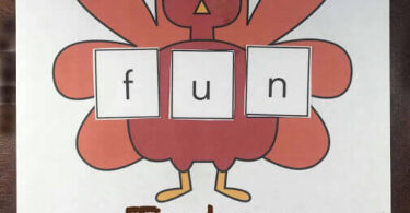 Turkey Sight Word Mat
