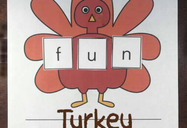 Turkey Sight Word Mat
