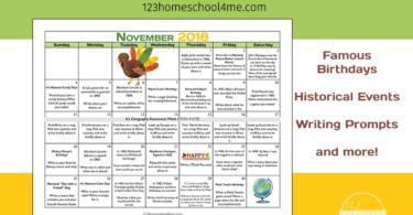 Free November Activity Calendar