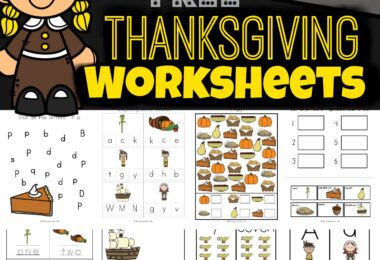 These free Thanksgiving Worksheets are filled with so many math printables and literacy activities for children from toddler, pre k, preschool, kindergarten, and first grade students while keeping children engaged in the material. There are over 80 pages in this huge pack of Thanksgiving worksheets with cute clipart of pilgrims, pumpkins, cornucopias, teepee, mayflower, turkey, squash, and so much more!