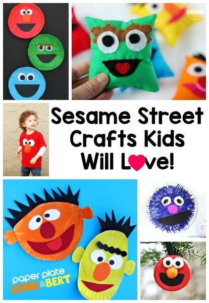 10 Fun Sesame Street Crafts Kids will LOVE - these are such cute crafts for kids based on classic television show sesame street. These are such a fun kids activity for toddler, preschool, kindergarten, and first grade kids #sesamestreet #craftsforkids #preschool