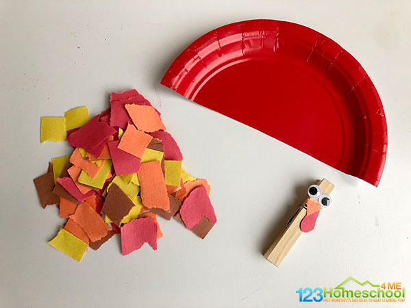 paper-plate-construction-paper-clothespin-turkey-craft