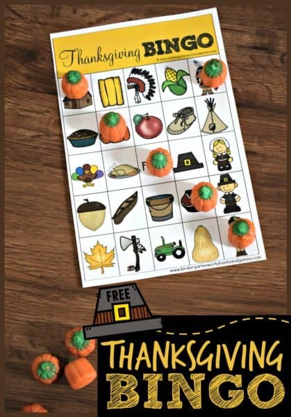 picture about Thanksgiving Bingo Printable named Printable Thanksgiving Bingo Activity 123 Homeschool 4 Me
