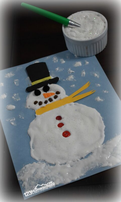 Puffy Snow Paint Recipe for Chrsitmas crafts