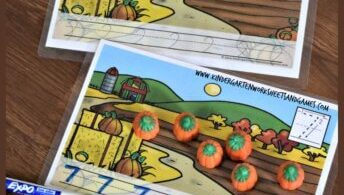 pumpkin-count-and-trace-worksheets