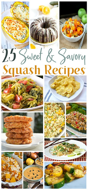 25 Sweet & Savory Squash Recipes - super yummy squash soups, squash side dishes, squash main dishes for fall. These yummy fall recipes are sure to be a new family favorite! #yummy #recipes #fall