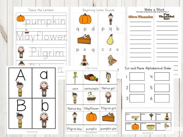 FREE Thanksgiving Worksheets For Kids