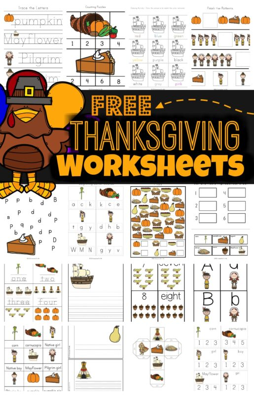 FREE Thanksgiving Worksheets For Kids