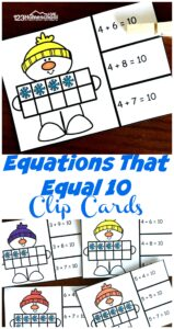 Free-Snowman-Addition-Within-10-Clip-Cards