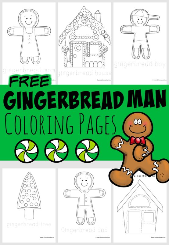 Free Gingerbread Coloring Sheets For Kids