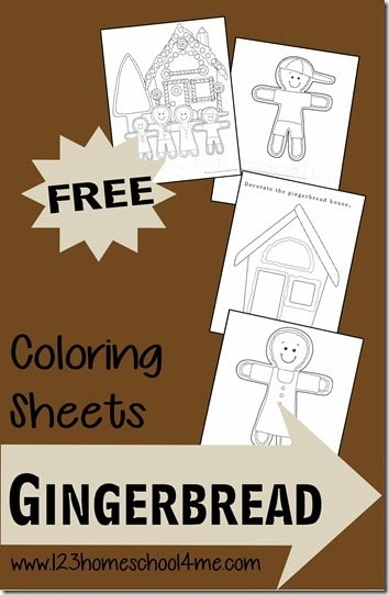 Free Gingerbread Cookie Coloring Sheets for Christmas - kids will have fun decorating their own gingerbread, gingerbread house, etc. with these free printable coloring pages for kids of all ages perfect for some NO PREP Christmas fun in December #gingerbread #christmasprintables #christmascoloringpages