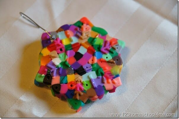 Perler Bead Ornament Craft for Kids - just beautiful!