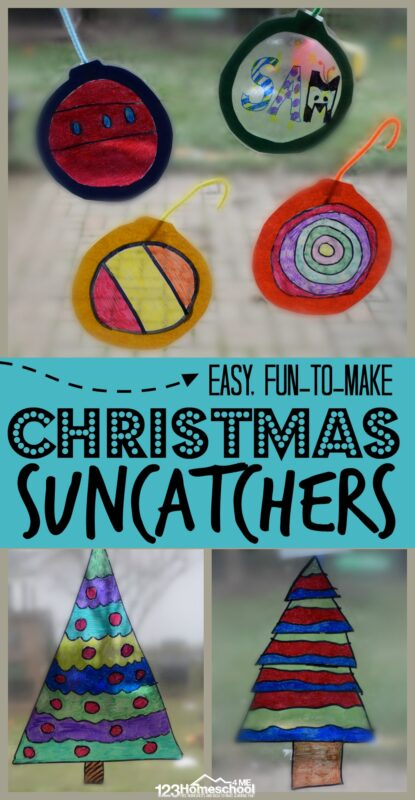 Kids of all ages will love making these beautifulChristmassuncatchers using sharpie markers. There are so many options for creating a truly beautiful Christmas craft for kids from preschool, pre-k, kindergarten, first grade, and 2nd grade students. Plus, you will love how easy thissuncatcher craft is to make!