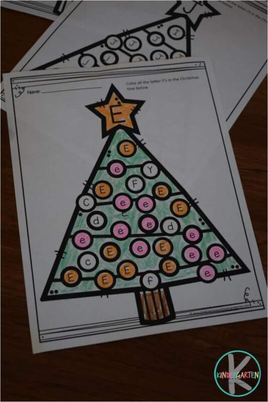 free-christmas-tree-letter-find