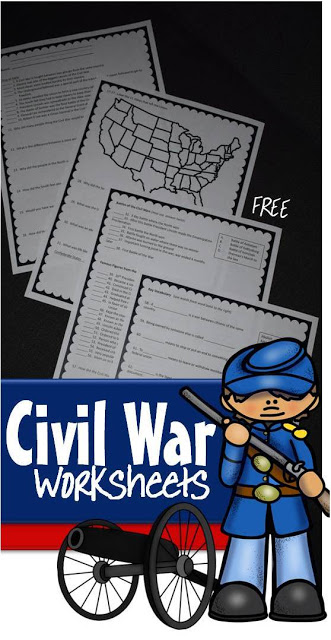 FREE Civil War Worksheets for Kids - Help kids review what they have learned about people of the Civil War, Civil war battles, slavery, Abraham Lincoln, 11 states that seceded to form Confederate States of America, and more! Includes answer key!! (homeschool, history for kids, 3rd grade, 4th grade, 5th grde, 6th grade, 7th grade, 8th grade)