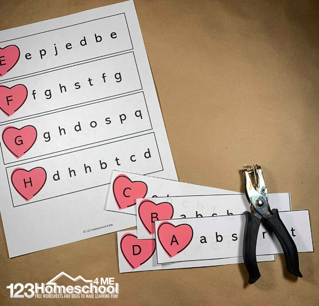 Hole-Punch-ABC-Game