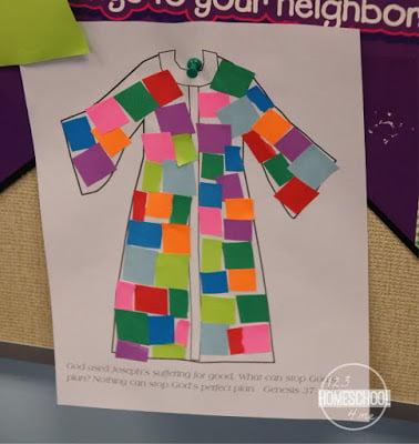 Joseph Coat of Many Colors Bible Craft
