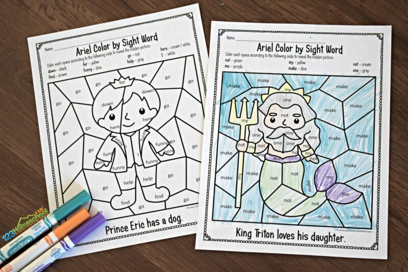 Preschool-Sight-Words-Coloring-Page