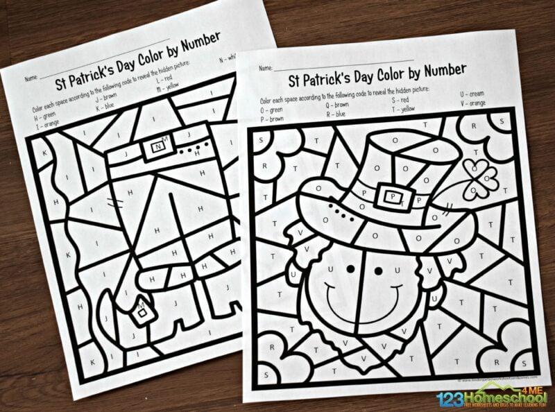 Saint-Patricks-Day-Color-by-Alphabet