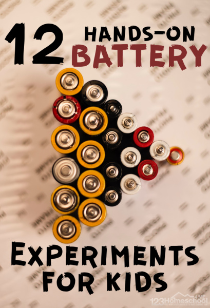 12 Hands-on Battery Experiments for Kids - so many fun, creative science activities for kids of all ages from preschool, kindergarten, to elementary age kids #scienceprojects #scienceactivities #kidsactivities