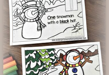 FREE Adorable Counting Snowman Reader