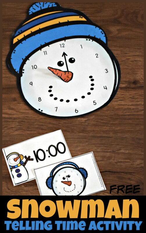 free-snowman-telling-time-activity