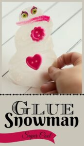Snowamn Craft using Glue