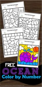 Ocean Color by Number Worksheet