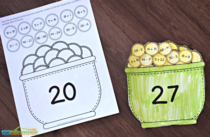 pot-of-gold-math-craft-for-1st-grade