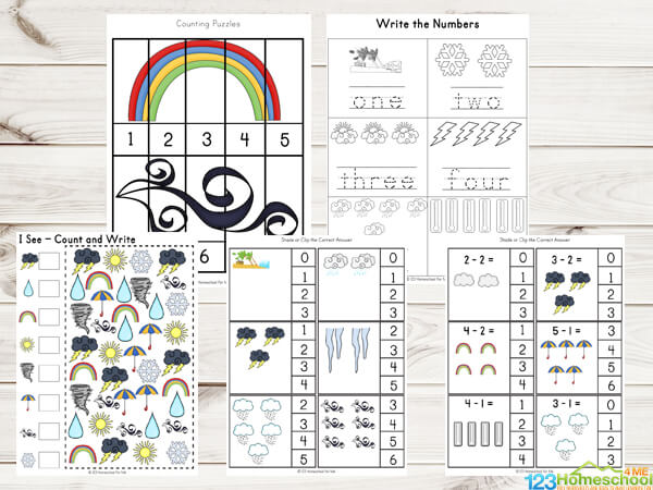 This is an image of Free Printable Weather Worksheets inside grade 4