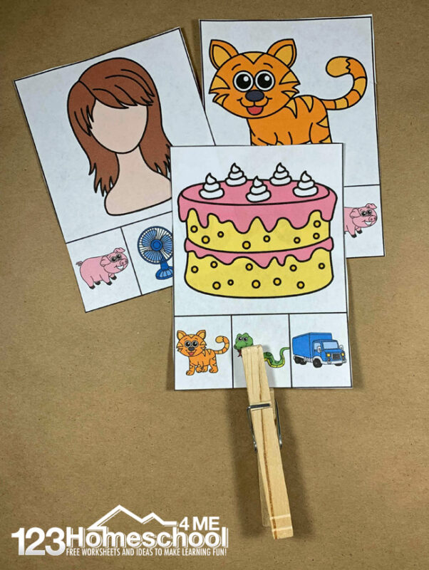 Rhyming Picture Clip Cards 123 Homeschool 4 Me
