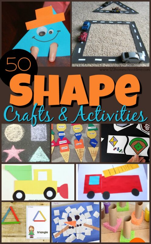Are your children working on shape recognition, shape name, and learning their shapes? You will love these super cute and clever Shape Crafts for toddler, preschool, pre k, kindergarten, and first grade students. Kids will have fun exploring shapes with these EPIC shapes craft ideas for children!