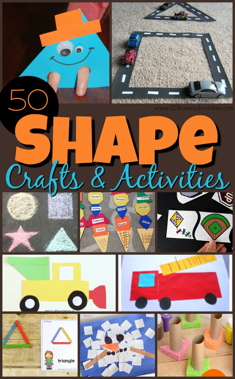 50 Epic Shape Crafts And Activities