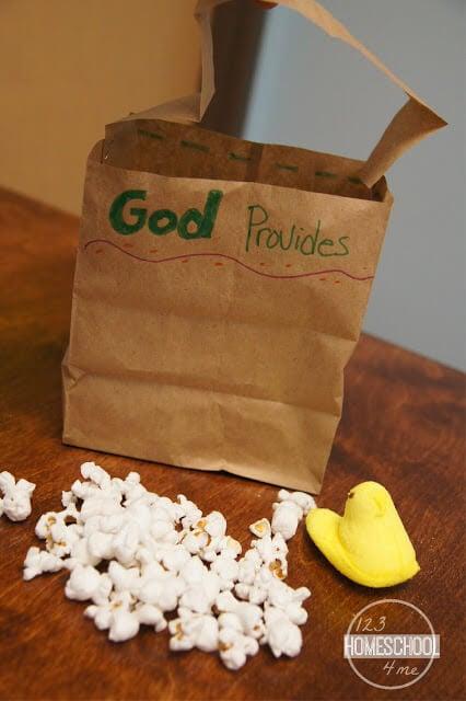 Israelites wander in the dessert God provides bible craft for sunday school lessons