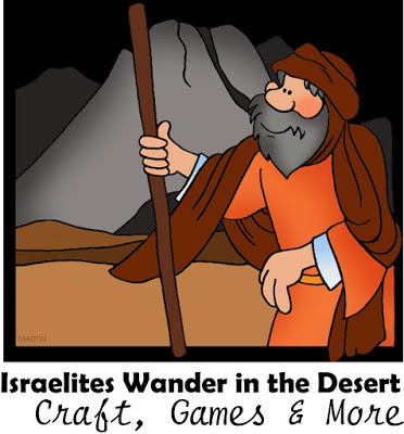 Israelites wander in the dessert after crossing of the red sea sunday school lesson with craft, games, songs, and more