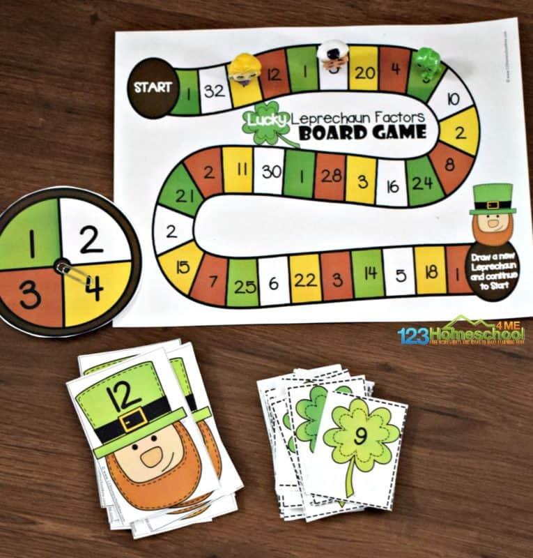 super cute, free printable, Math Games for Grade 4