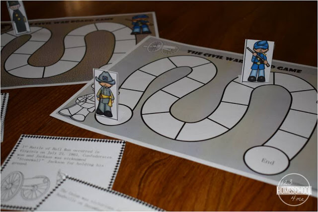 The Civil War game for 3rd grade, 4th grade, 5th grade, 6th grade, 7th grade, and 8th grade