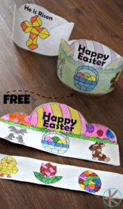 suerp cute easter craft that you make by coloring by number
