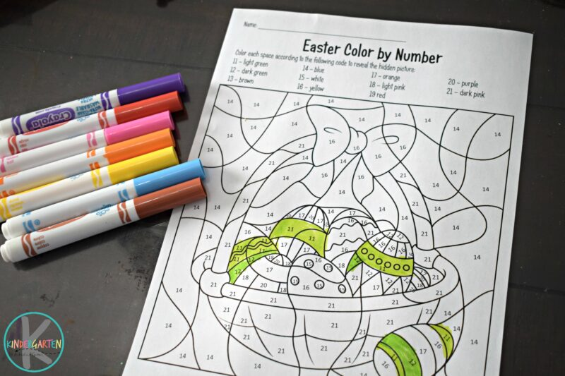 easter-color-by-number-worksheets